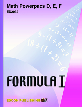 Formula 1 Powerpac F Lesson 6, Averages, Graphs, and Tables