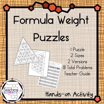 Formula Weight Puzzles