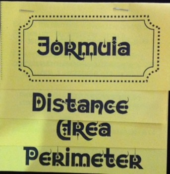 Formula for Distance, Area, Perimeter Flip Book Foldable