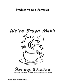 Formulas - Product to Sum