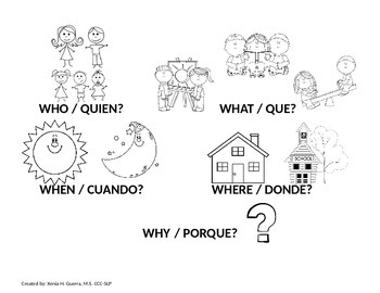 English/Spanish Formulating Sentences - 'Wh' Questions to Answer