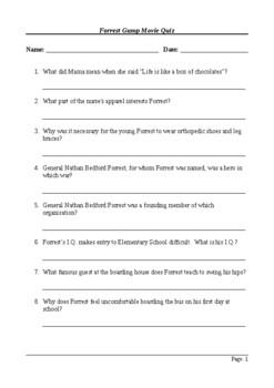 Forrest Gump - Quiz