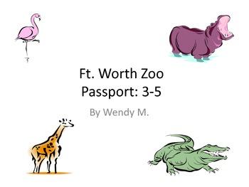 Fort Worth Zoo Passport - Upper Grades