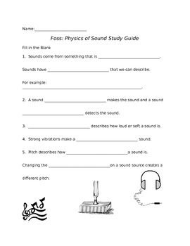 Foss Physics of Sound Study Guide