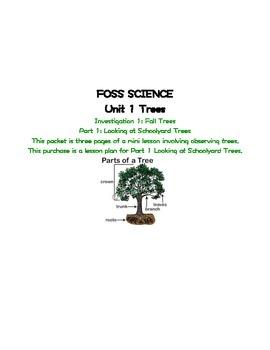 Foss Science Unit 1 Trees Lesson 1 Part 1