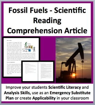 Fossil Fuels - A Science Reading Comprehension Resource -