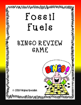 Fossil Fuels BINGO Review Game