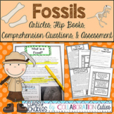 Fossils Articles, Flip Books, Comprehension Questions, and
