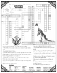 Fossils Crossword Comprehension Puzzle
