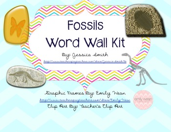 Fossils Word Wall Kit