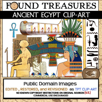 Found Treasures: Ancient Egypt Clip-Art-50 Pieces!Restored