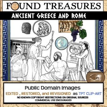 Found Treasures: Ancient Greece & Rome Clip Art-50 Pc! Res