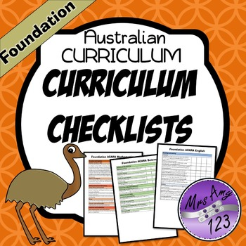Foundation Australian Curriculum Checklists