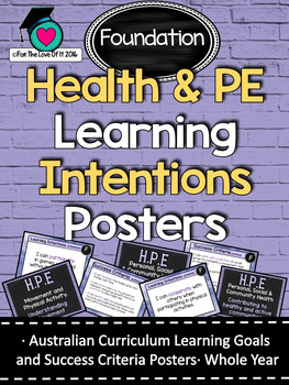 Foundation All HEALTH & PE  Learning INTENTIONS/success cr