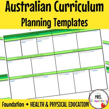 Foundation Australian Curriculum Planning Templates - Heal
