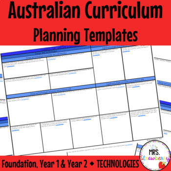 Foundation Year 1 Year 2 Australian Curriculum Planning Te