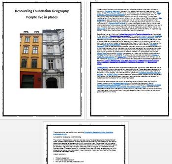 Resourcing Foundation/ Prep/ Kindergarten Geography - Peop