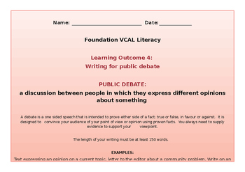 VCAL Foundation Literacy Learning Outcome 4