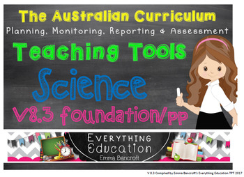 Foundation/Pre Primary Science V8.3 Australian Curriculum Package