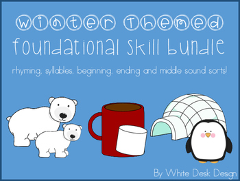 Foundational Skill Bundle {Winter Themed} NO PREP!