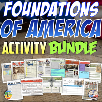 Foundations of America Unit Activity Bundle