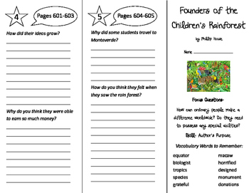 Founders of the Children's Rain Forest Trifold - Imagine I