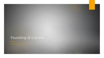Founding of Canada (Part 1) Powerpoint