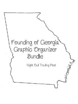 Founding of Georgia Graphic Organizer Bundle