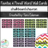 Fountas & Pinnell Editable Word Wall Cards (chalkboard/chevron)