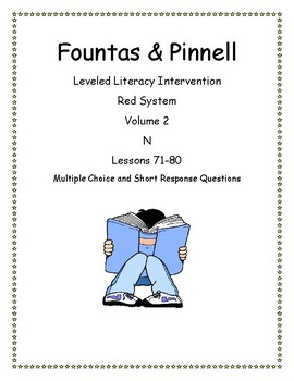 Fountas & Pinnell Leveled Literacy Intervention Red System 71-80