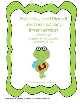 Fountas and Pinnell LLI Green Kit Supplementary Materials