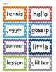 Fountas and Pinnell Phonics Word Wall 1