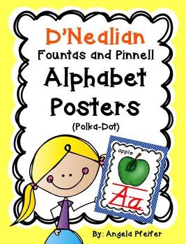 D'NEALIAN Alphabet Posters Fountas and Pinnell- Polka Dot