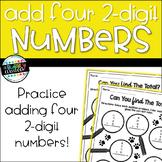 Four 2-Digit Number Addition {2nd Grade}