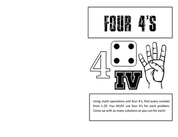Four 4's Foldable