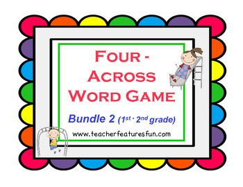 Four - Across Word Games (Bundle 2: 1st Grade & 2nd Grade)