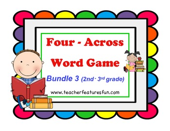 Four - Across Word Games (Bundle 3: 2nd & 3rd Grade)