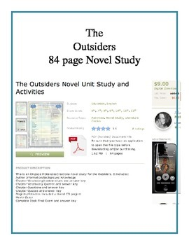 Four Complete Novel Studies: Outsiders, Great Gatsby, Nigh