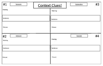 Four Corners Activity- Context Clues!