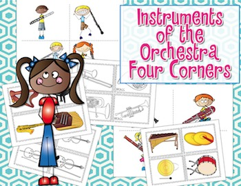 Four Corners - Assessment Game {Instruments of the Orchestra}