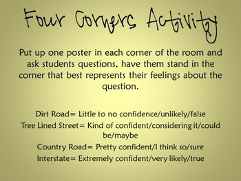 Four Corners Posters (Formative Assessment Tool)