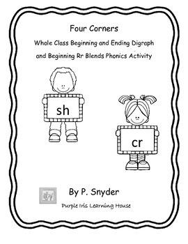 Four Corners: Whole Class Blends Phonics Activity