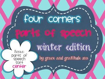 Four Corners: Winter Parts of Speech