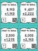 Four Digit Addition Without Regrouping - 24 Task Cards wit