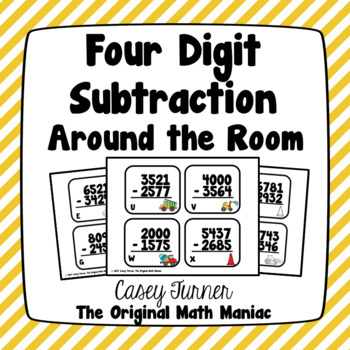 Four Digit Subtraction Around the Room