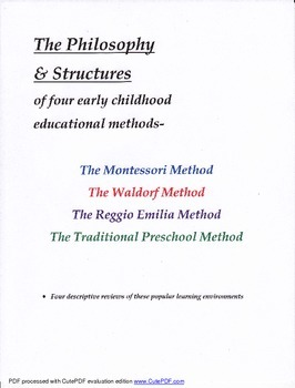 Four Early Childhood Educational Methods