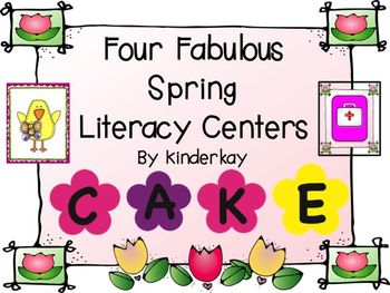 Four Fabulous Spring Literacy Centers