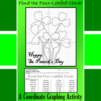 St. Patrick's Day - Find the Four-Leafed Clover - Coordina