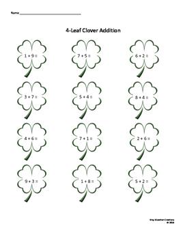 Four Leaf Clover Math