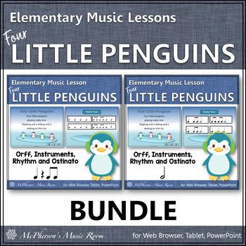 Four Little Penguins: Orff, Rhythm, Ostinato, Form & Instr